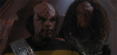 """Think about what you are doing. If you turn your back on me now, for as long as I live, you will not be welcome anywhere in the Klingon Empire. Your family will be removed from the High Council, your lands seized, and your House stripped of its titles. You'll lose your priority parking space outside the High Chancellery."""