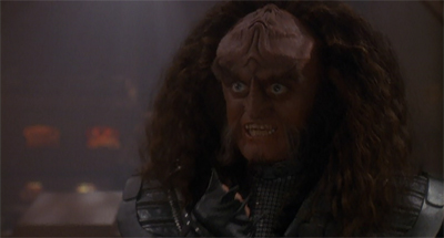 """Come with me, Worf! My bug eyes demand it!"""
