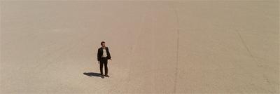 A man alone...
