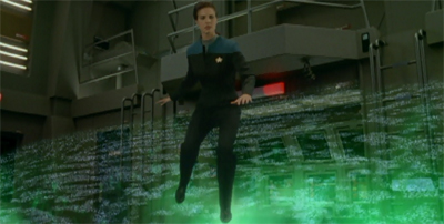 Jadzia's practically walking on air...