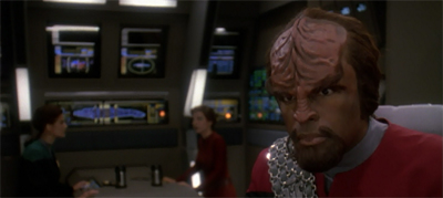 """Captain Worf... that has a nice ring to it..."""
