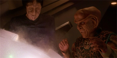 Hope of a deal between the Ferengi and the Karemma has been torpedoed...