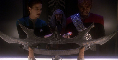 """You mean the Sword of Kahless I ordered from the back of my Kahless the Unforgettable comic book when I was twelve was not authentic?"""