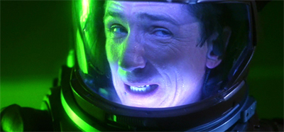 Malcolm turns a bit green when he gets space sick...
