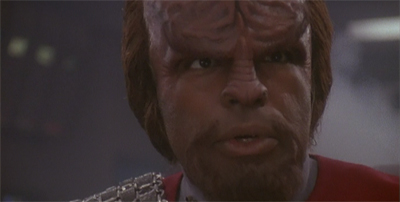 Cry havoc, and let slip the dogs of Worf...