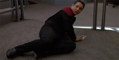Paris' insubordination really floors Chakotay...
