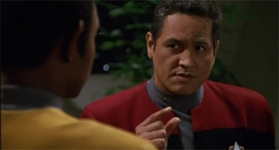 Upon discovering Brad Dourif was playing Suder, Chakotay was asked how much reasonable doubt he had.