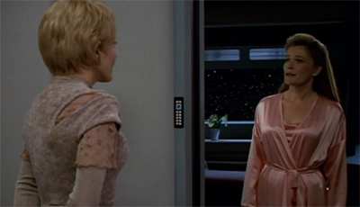 """Yes, my dressing gown isn't quite as fabulous as Picard's but one has to make do."""