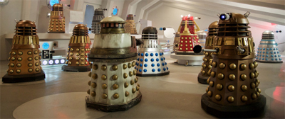 """What is the collective noun for a bunch of Daleks? An 'Extermination of Daleks'?"""