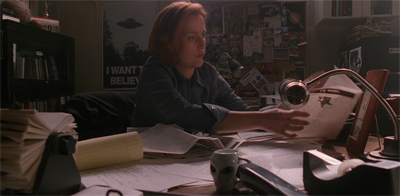 """Mulder made sure to leave me that mug. Of course he did."""