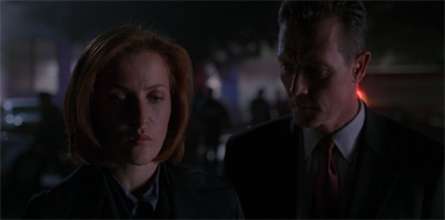 """Look, I know you miss Mulder. But if he'd been around for this, you know the quips would have been terrible."""