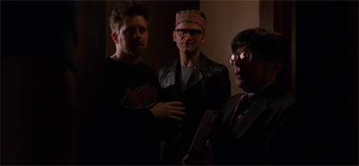 It is very cute that the Lone Gunmen disguise themselves as each other...