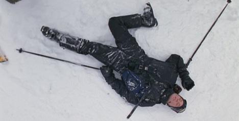 No escape-skiis...