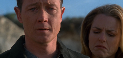 Somebody had to fill the void of manly tears left by Mulder. Doggett stepped up.