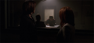"""Another reason we suspect it's Mulder: he insisted on setting lighting back to eighth season levels..."""