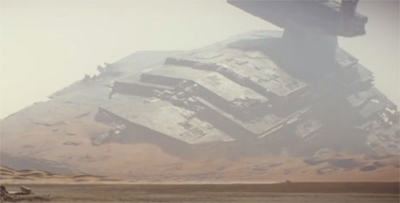 The stardestroyer that fell to Earth...