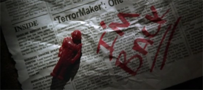 """It was a nice piece of work, Terrormaker. You shouldn't have signed it."""