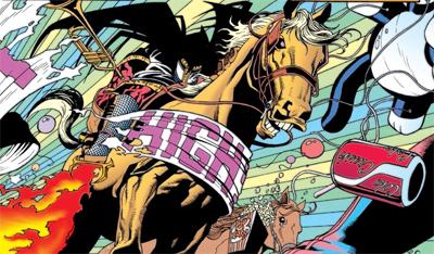 Rode a pale horse...
