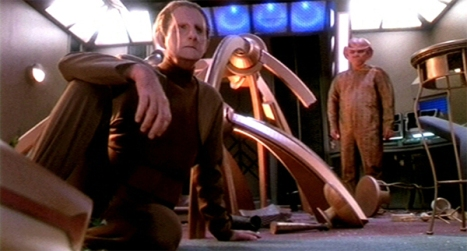 Odo's attempts at redecorating were not going well...