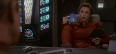 """Captain Sisko's been complaining that you don't leave coffee out for him during his briefings..."""