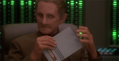 "For a shape-shifter, Odo really needs to work on that ""come hither"" look."