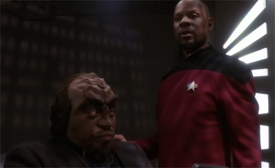 """""""I know the budget couldn't stretch to another Klingon guest star, but I'm not sure you should really call the prosecutor as a witness..."""""""