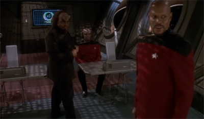 Worf gets dressed up to be dressed down...