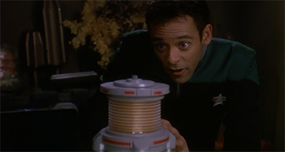 """See, I even found a good use for the device Garak used to torture Odo!"""