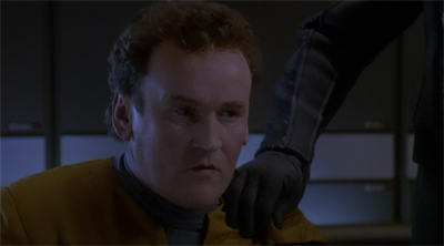 "The Jem'Hadar cared little for Miles O'Brien's ""inappropriate work place contact"" memo."
