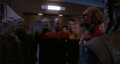 """Klingon to your ego, Mister Worf."""