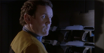 """""""Careful, Captain. You don't want the Jem'Hadar riffling around in our stuff."""""""