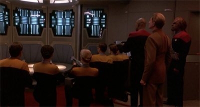 """I haven't seen a welcoming party this extreme since the last time one of Sisko's Academy buddies dropped by."""