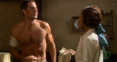 """The CW, you say? Perhaps I won't be needing my shirt after all. By the way, do you have a salmon ladder I could use?"""