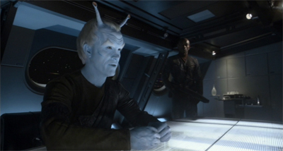 It's been a while since Shran really blue up...