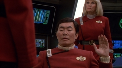 Sulu flying solo...