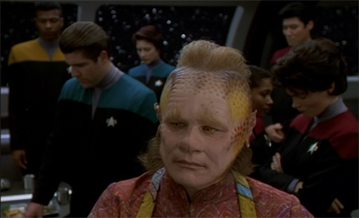 Neelix is not happy. Not. One. Bit.