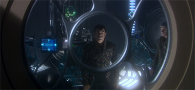 """I am really going to miss this view. Romulan office space is at a premium."""