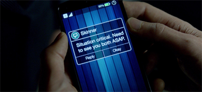 "I'm a little disappointed that Mulder didn't enter Skinner into his phone as ""Skin-Man."""