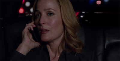 """Keep monologuing, Mulder. I'm listening... Tad, does this phone have a mute button?"""