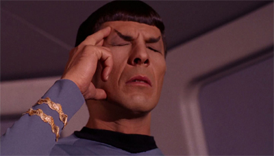 This also seems to have been Leonard Nimoy's response on reading the script.
