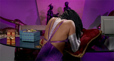 Cushioning herself.