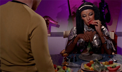 Kirk gives her a lot to chew over.