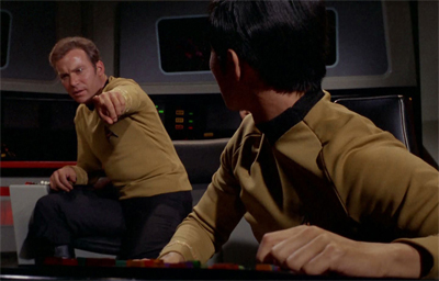 """Mister Sulu, the Klingons went thattaway..."""