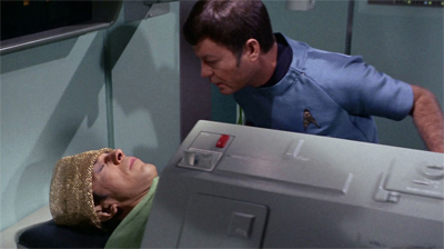 """""""Jim, where are you going to look? In this whole galaxy, where are you going to look for Spock's brain? How are you going to find it?"""""""