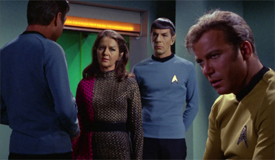 """You have to keep in mind, the Dohlman of Elaan and his lost wife and child took a lot out of him. Even if you're watching in broadcast order, the man's just lived through Spock's Brain."""