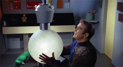 """Boy, this sixties lighting fixture really ties the room together."""