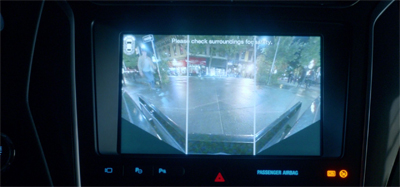 """... and its dashboard camera system makes it easier than ever to pull out safely."""