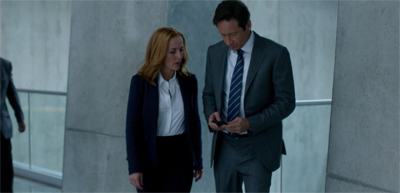 """Sorry, Scully. Just trying to beat my high score at candy crush."""