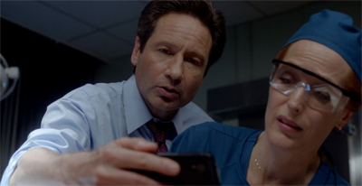 """I'm telling you, Scully. It looks a lot more impressive on a big screen."""