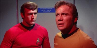 Seeing red shirts.